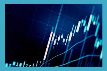финансовый свечной график